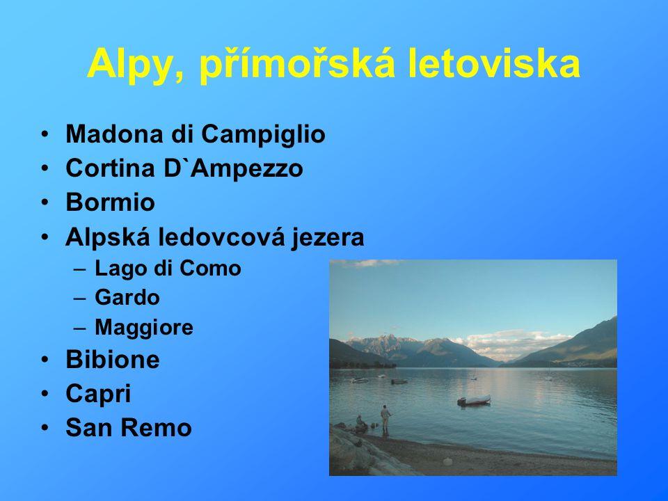 Alpy, přímořská letoviska