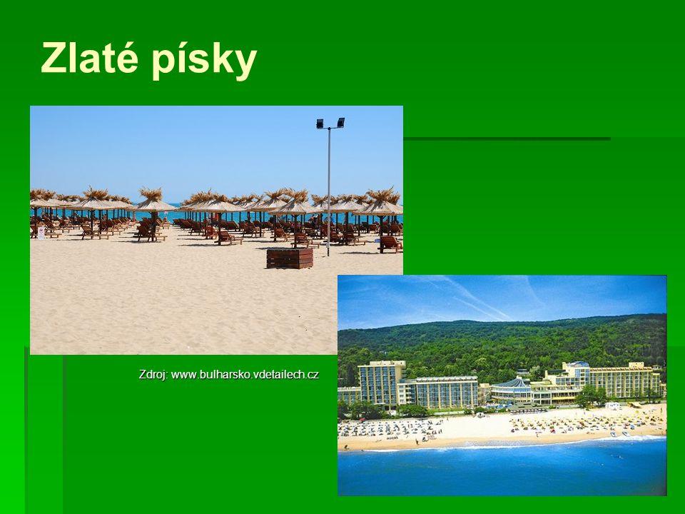 Zlaté písky Zdroj: www.bulharsko.vdetailech.cz
