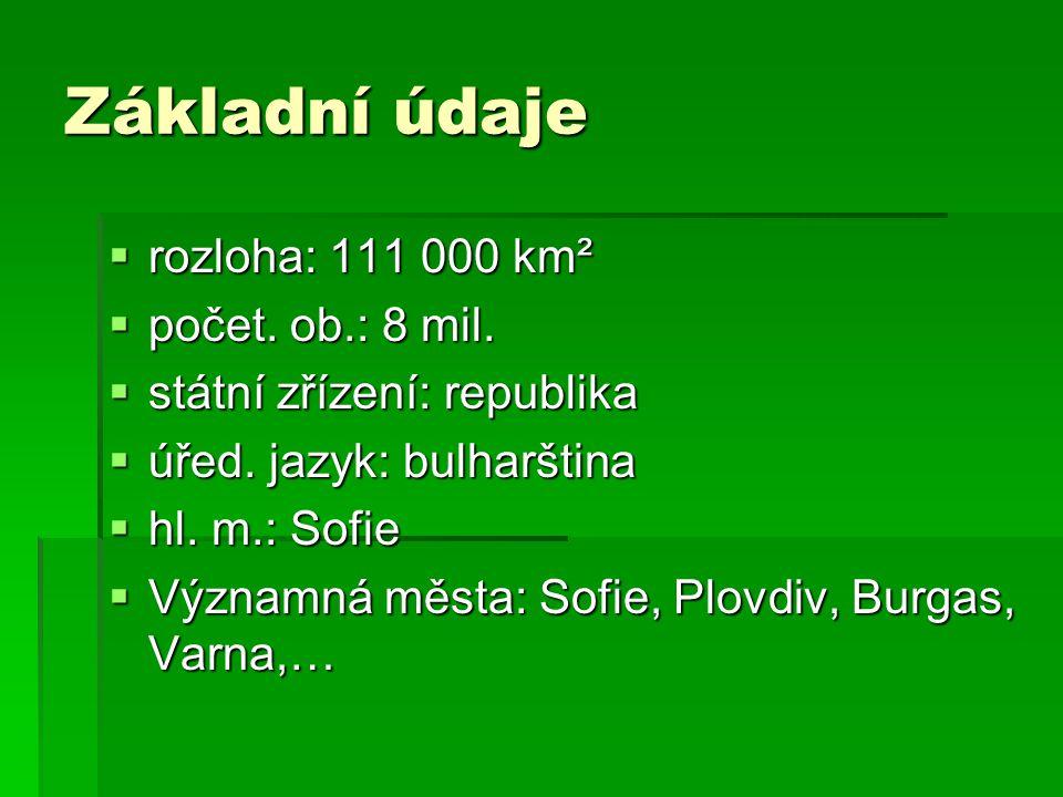 Základní údaje rozloha: 111 000 km² počet. ob.: 8 mil.