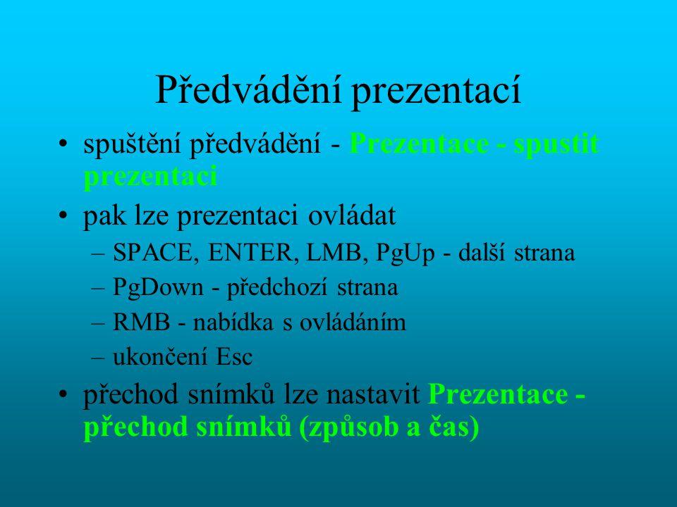Předvádění prezentací
