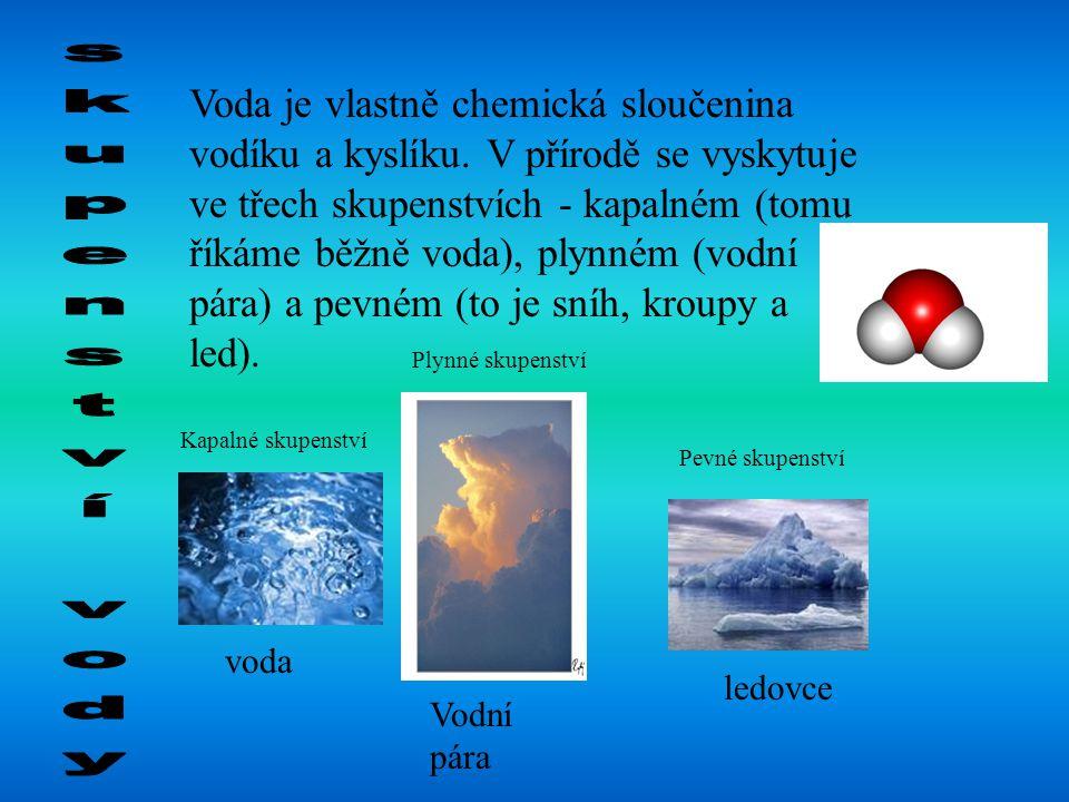 Voda je vlastně chemická sloučenina vodíku a kyslíku