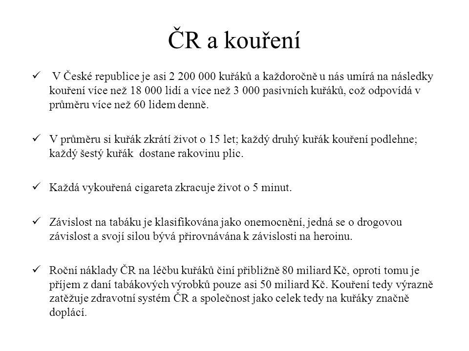 ČR a kouření