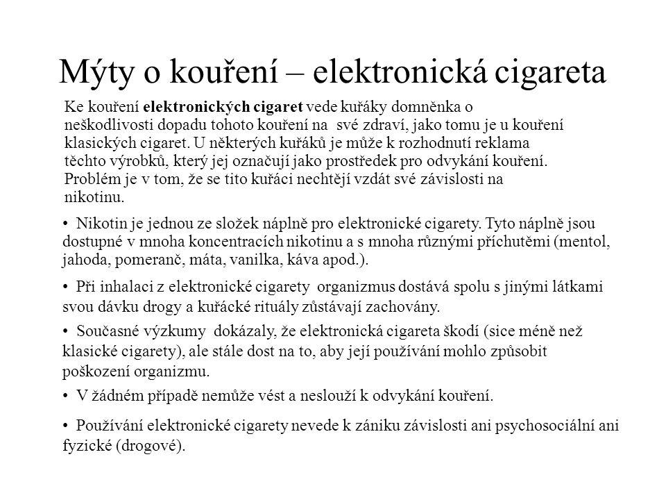 Mýty o kouření – elektronická cigareta