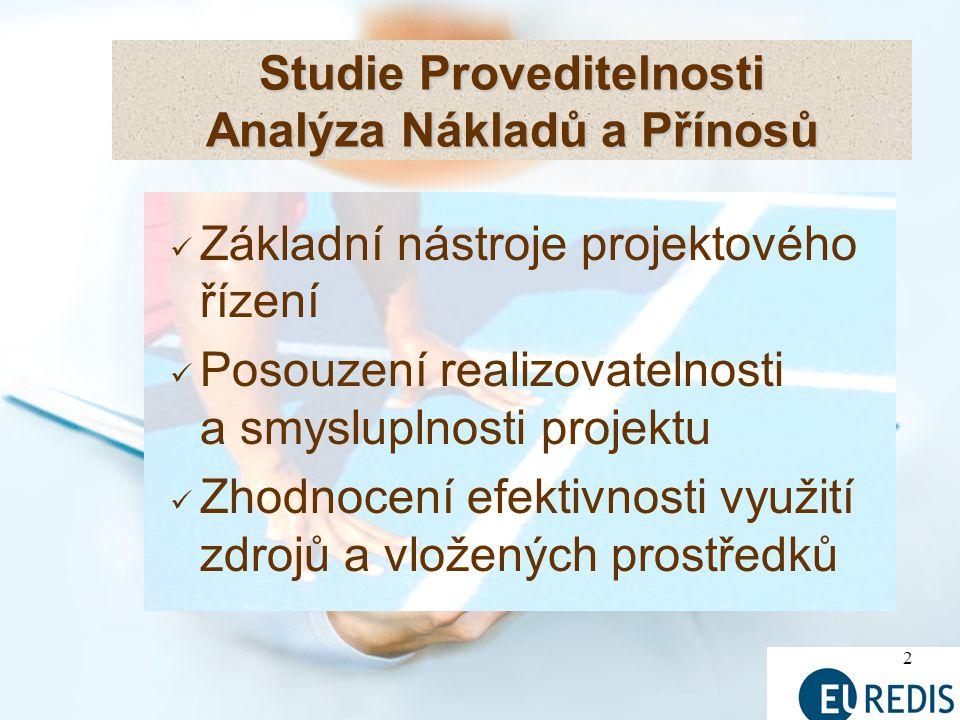 Studie Proveditelnosti Analýza Nákladů a Přínosů