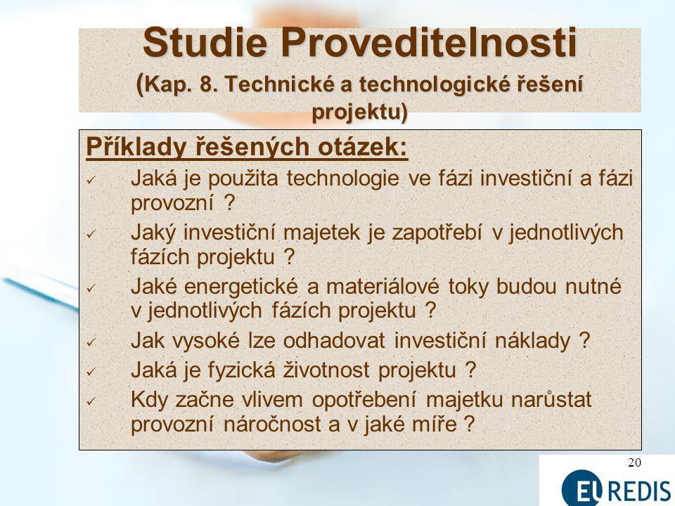 Studie Proveditelnosti (Kap. 8