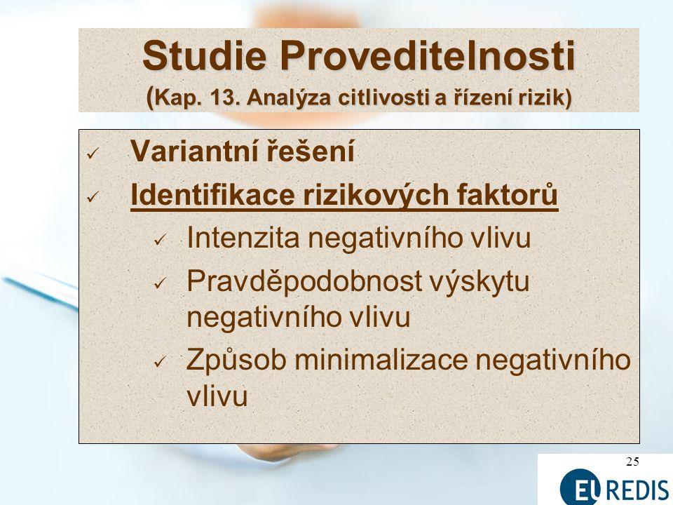 Studie Proveditelnosti (Kap. 13. Analýza citlivosti a řízení rizik)