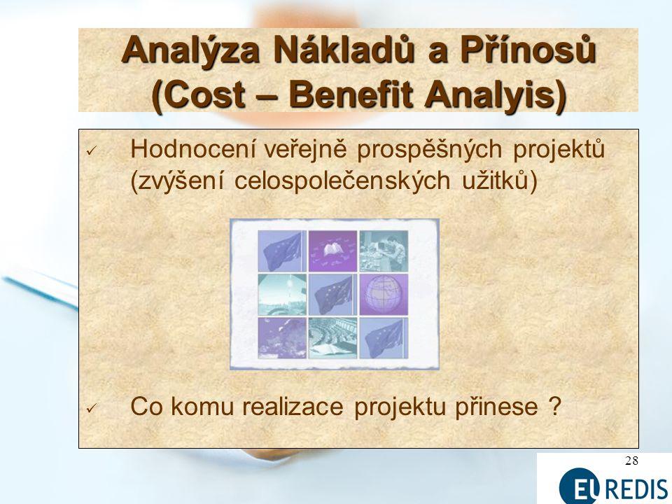 Analýza Nákladů a Přínosů (Cost – Benefit Analyis)