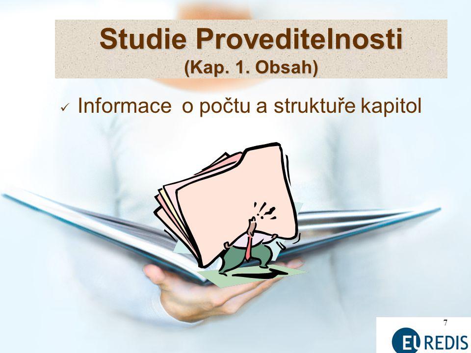 Studie Proveditelnosti (Kap. 1. Obsah)