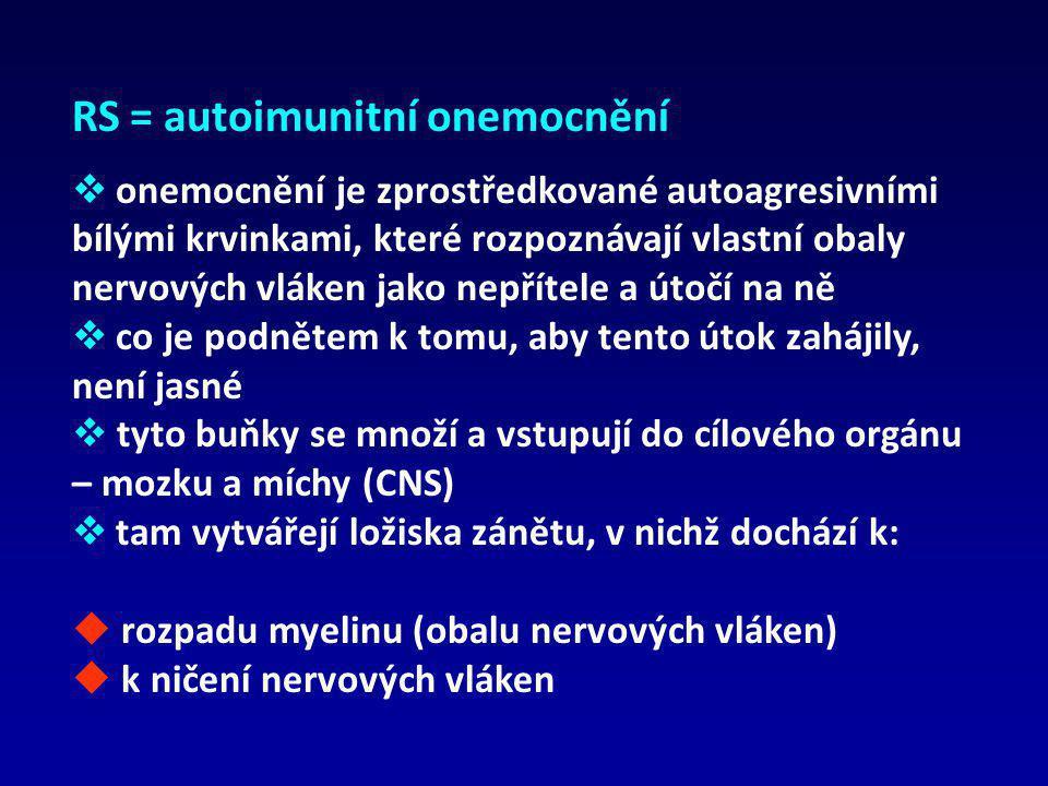 RS = autoimunitní onemocnění