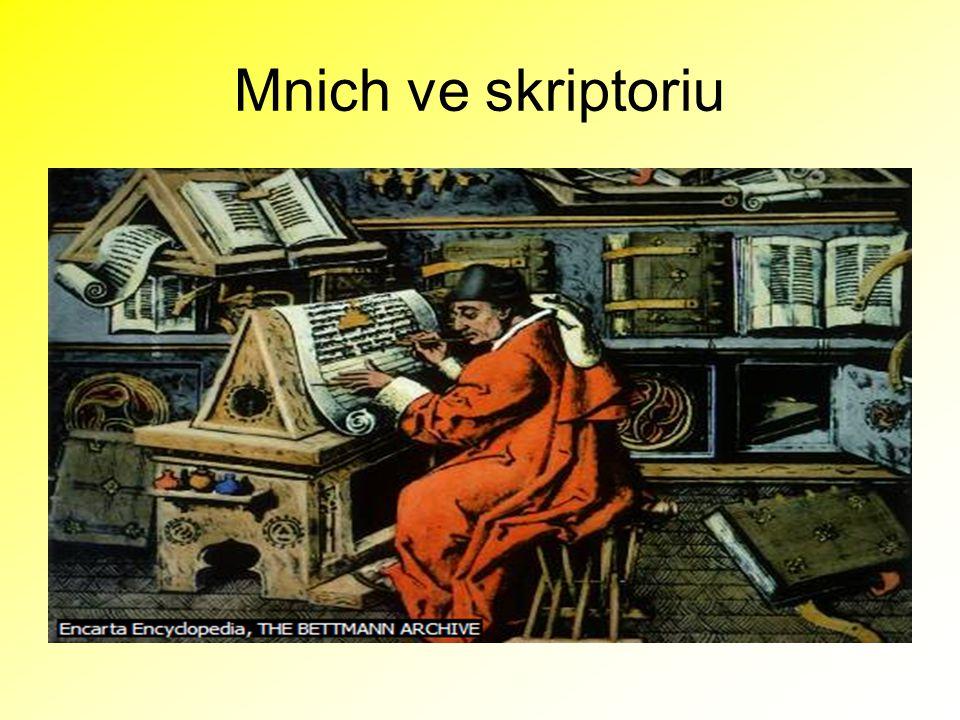 Mnich ve skriptoriu