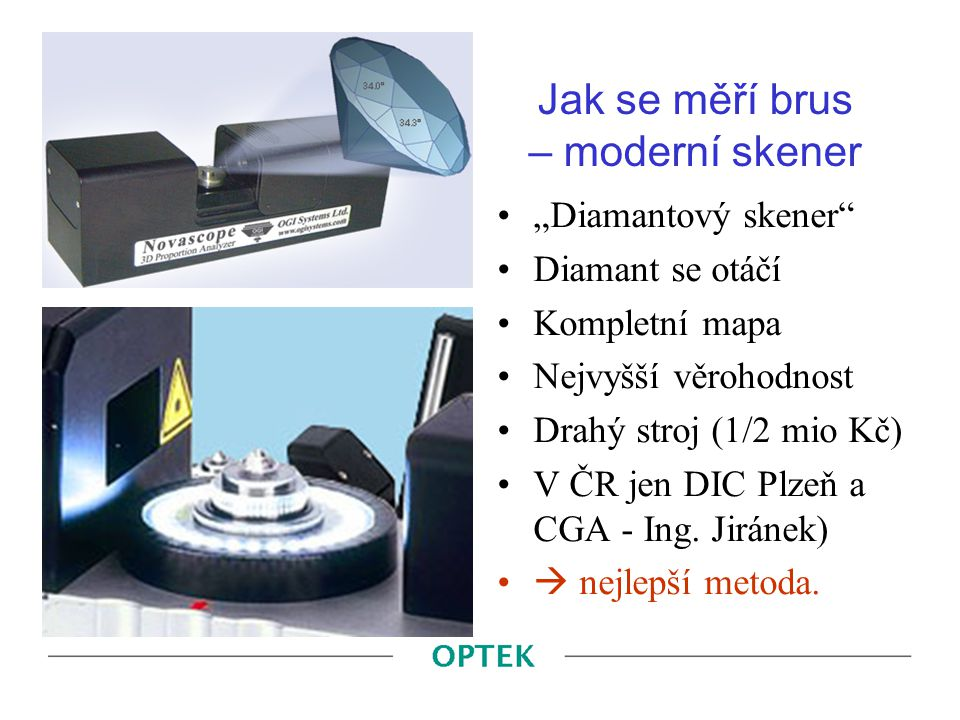 Jak se měří brus – moderní skener
