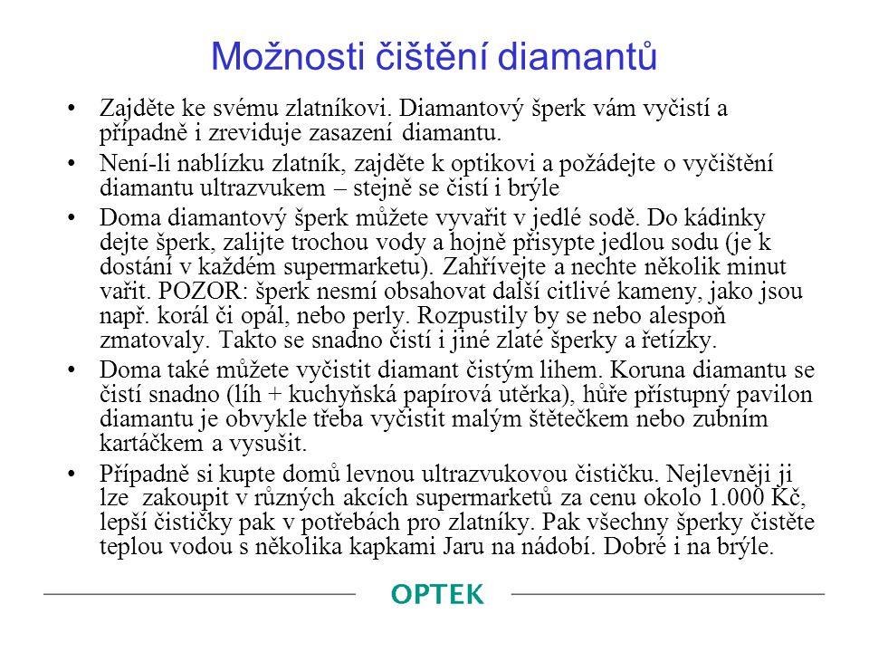 Možnosti čištění diamantů