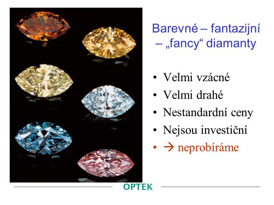 """Barevné – fantazijní – """"fancy diamanty"""