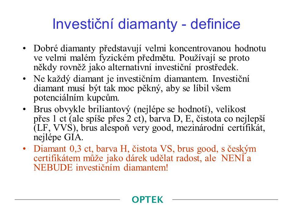 Investiční diamanty - definice