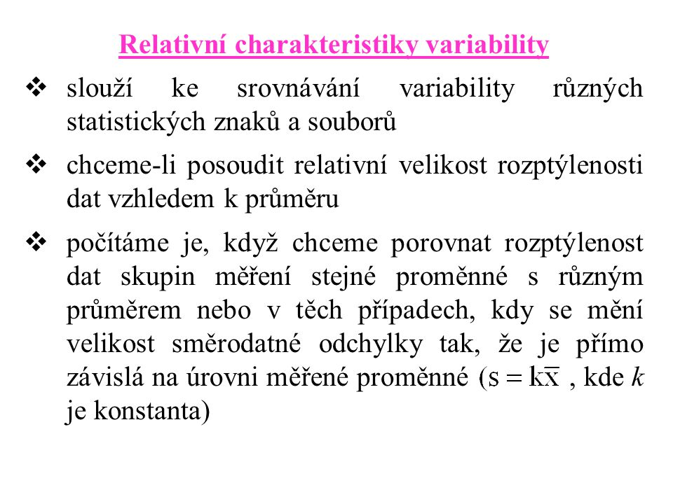 Relativní charakteristiky variability