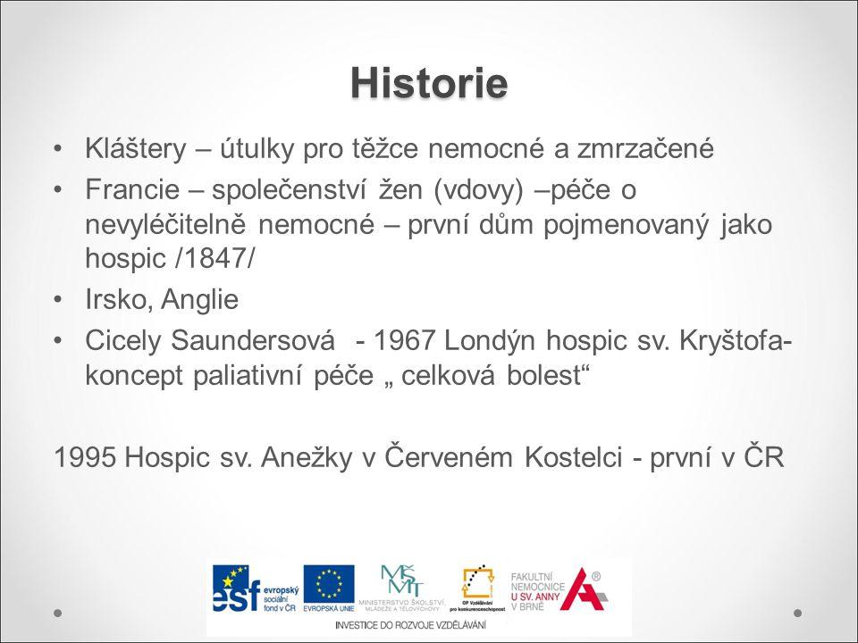 Historie Kláštery – útulky pro těžce nemocné a zmrzačené