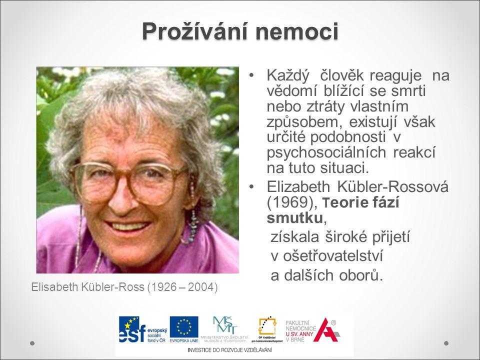 Prožívání nemoci Elisabeth Kübler-Ross (1926 – 2004)