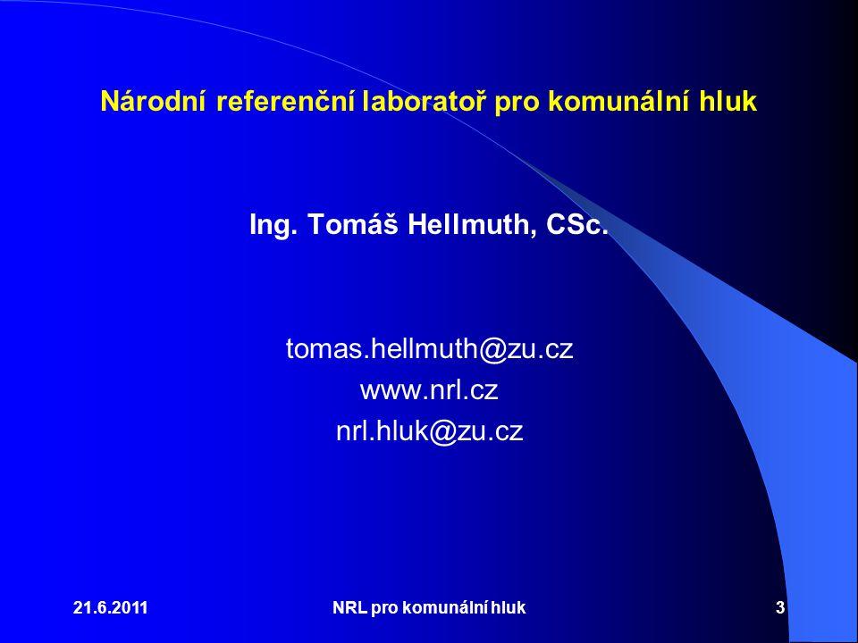 Národní referenční laboratoř pro komunální hluk Ing