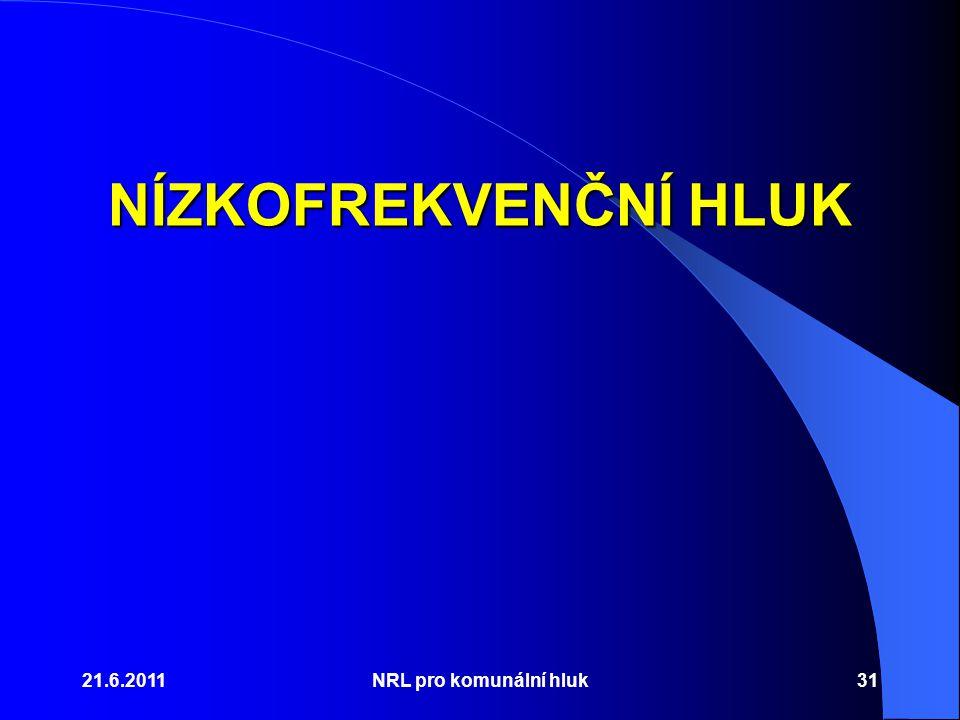 NÍZKOFREKVENČNÍ HLUK 21.6.2011 NRL pro komunální hluk