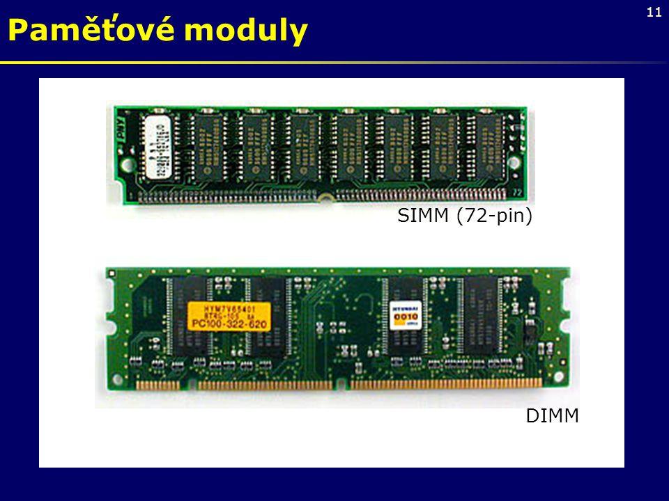 Paměťové moduly SIMM (72-pin) DIMM