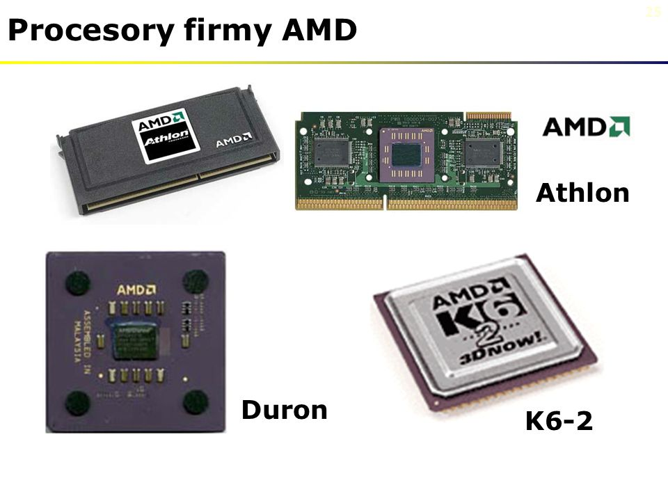 Procesory firmy AMD Athlon Duron K6-2