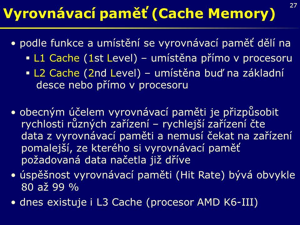 Vyrovnávací paměť (Cache Memory)