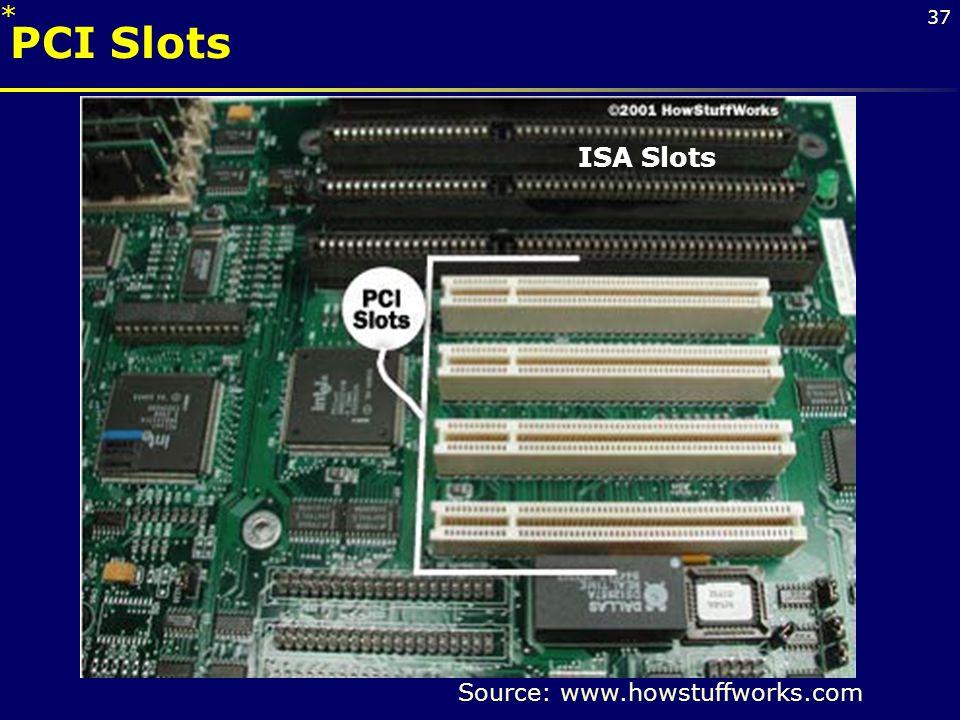 * PCI Slots. ISA Slots.