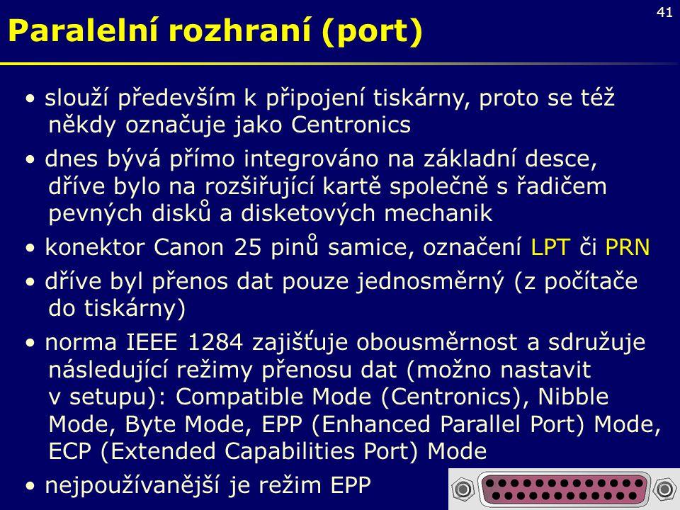 Paralelní rozhraní (port)