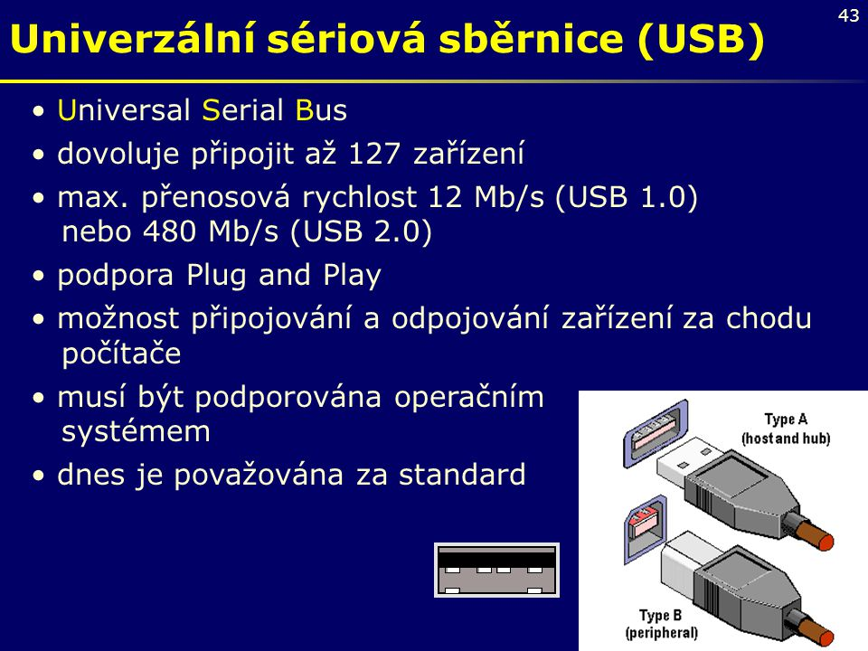Univerzální sériová sběrnice (USB)