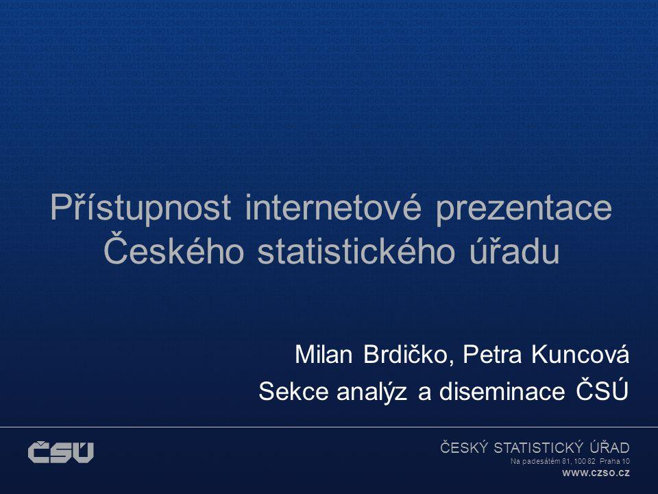 Přístupnost internetové prezentace Českého statistického úřadu