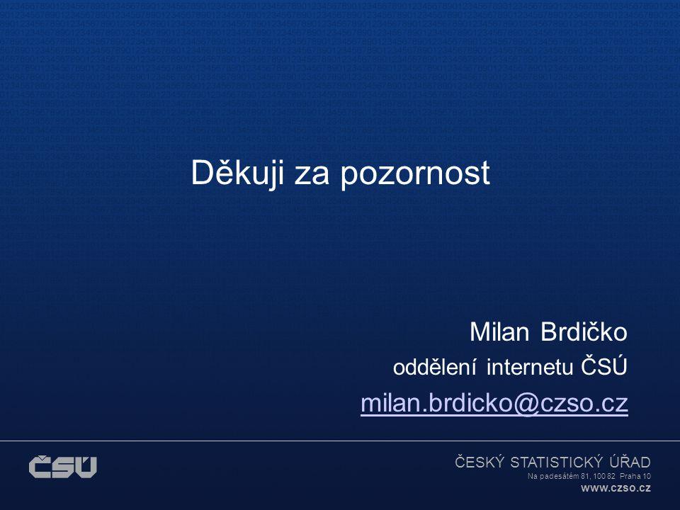 Děkuji za pozornost Milan Brdičko milan.brdicko@czso.cz