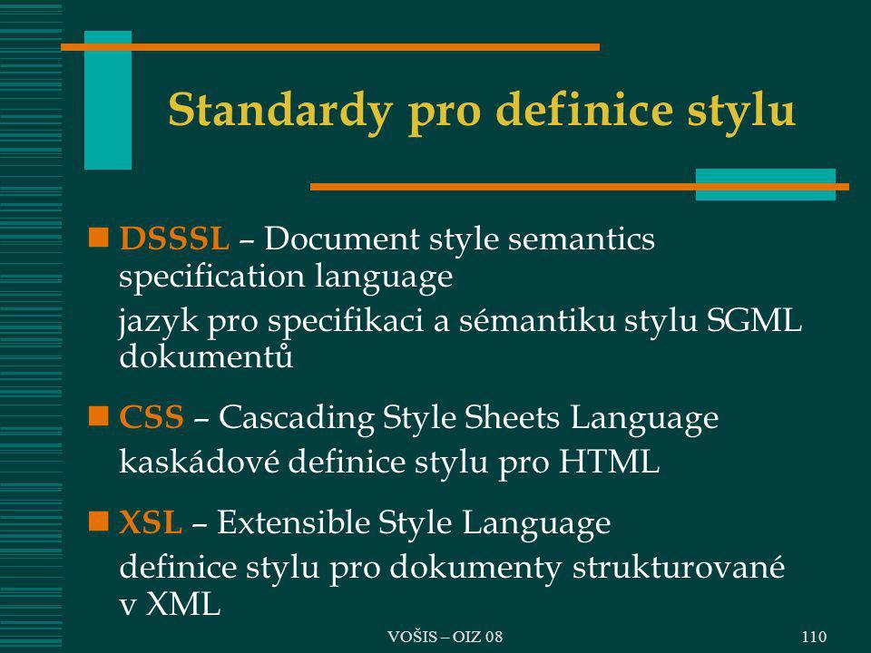 Standardy pro definice stylu