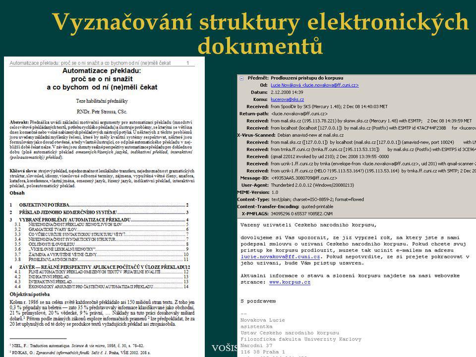 Vyznačování struktury elektronických dokumentů