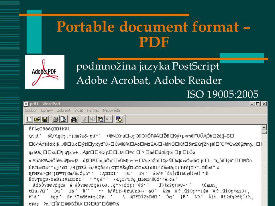 Portable document format – PDF