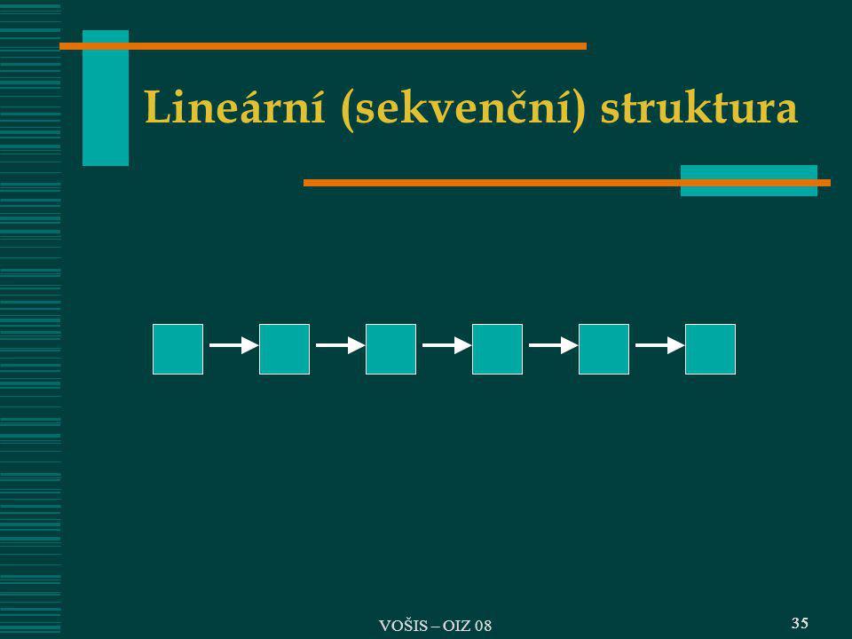 Lineární (sekvenční) struktura