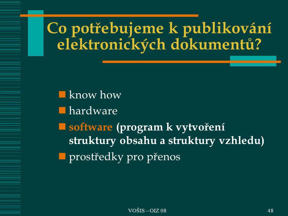 Co potřebujeme k publikování elektronických dokumentů