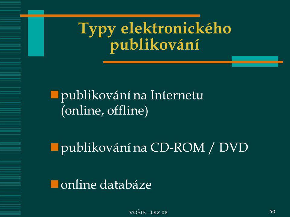 Typy elektronického publikování