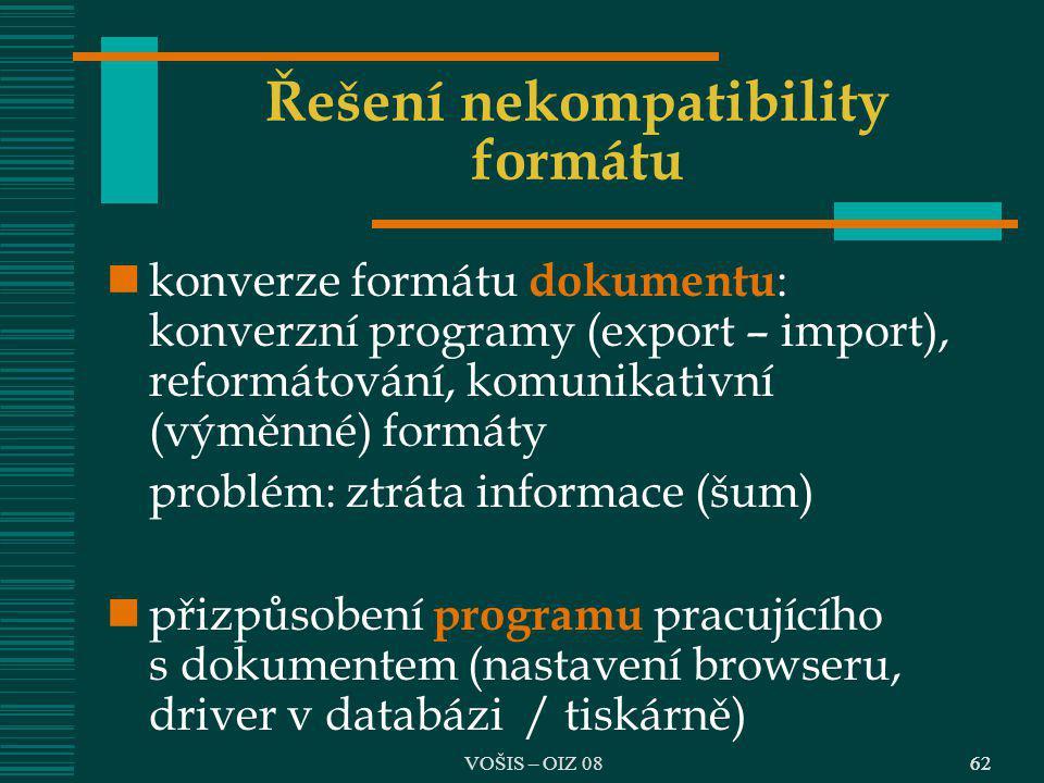 Řešení nekompatibility formátu