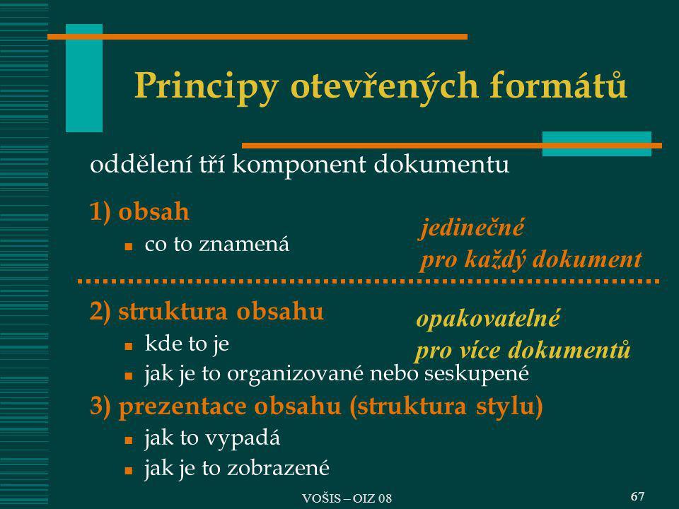 Principy otevřených formátů