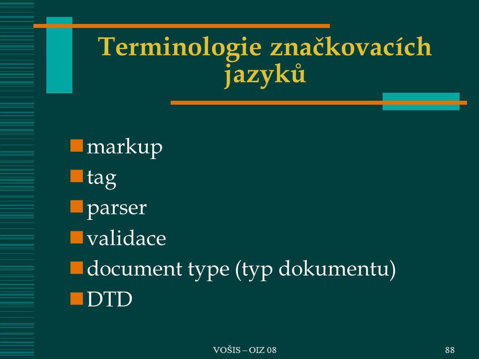 Terminologie značkovacích jazyků