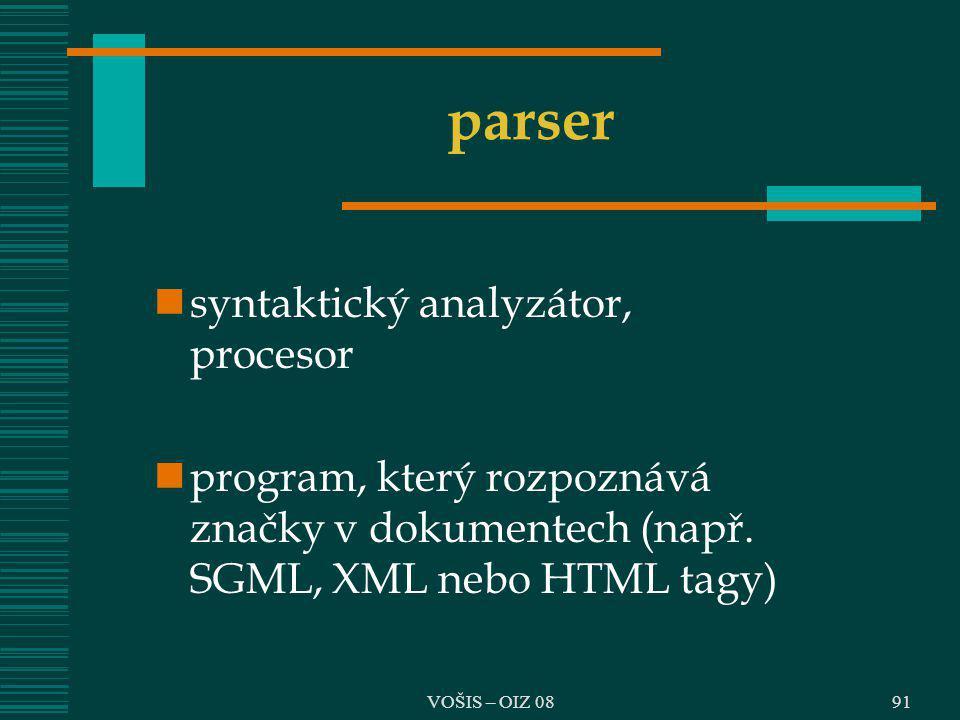 parser syntaktický analyzátor, procesor