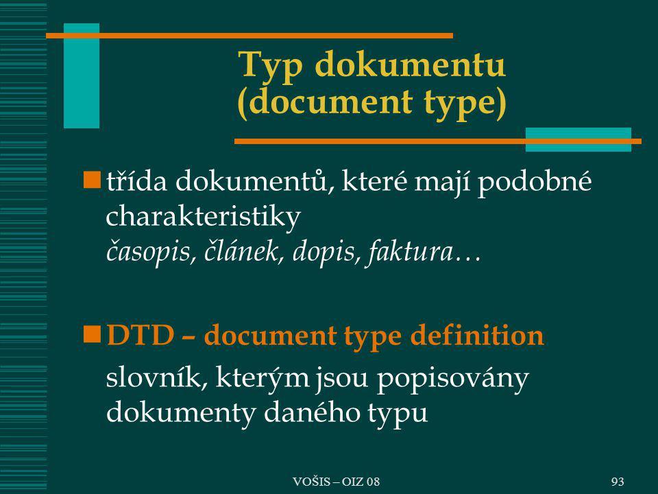 Typ dokumentu (document type)