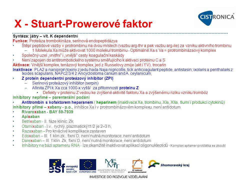 X - Stuart-Prowerové faktor