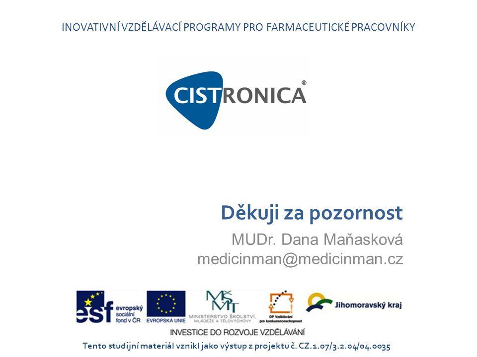 MUDr. Dana Maňasková medicinman@medicinman.cz