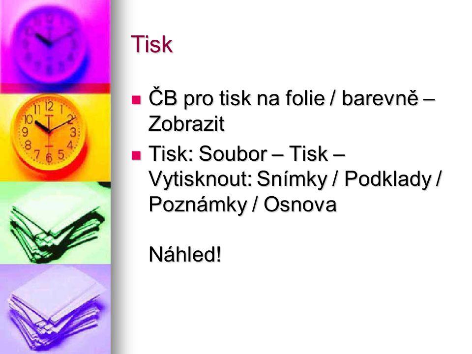 Tisk ČB pro tisk na folie / barevně – Zobrazit
