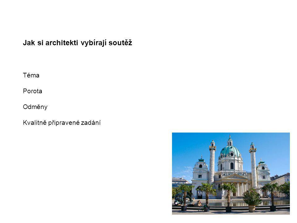 Jak si architekti vybírají soutěž