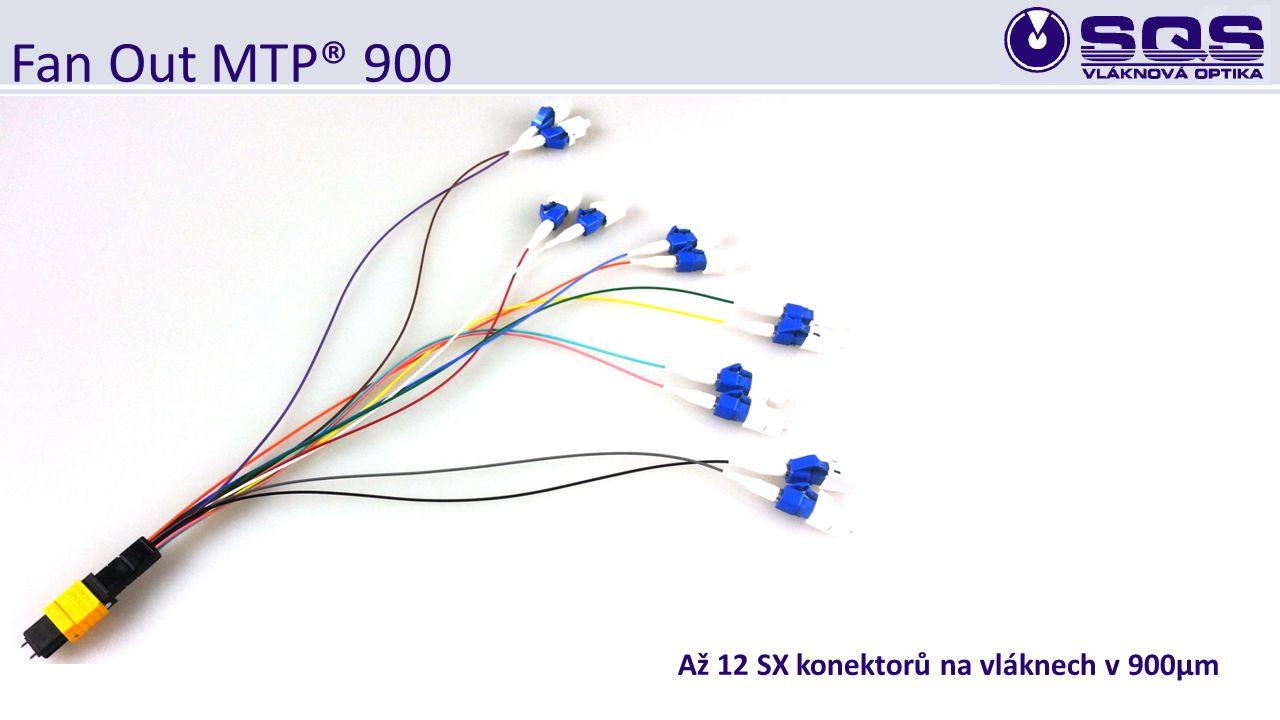 Fan Out MTP® 900 Až 12 SX konektorů na vláknech v 900µm