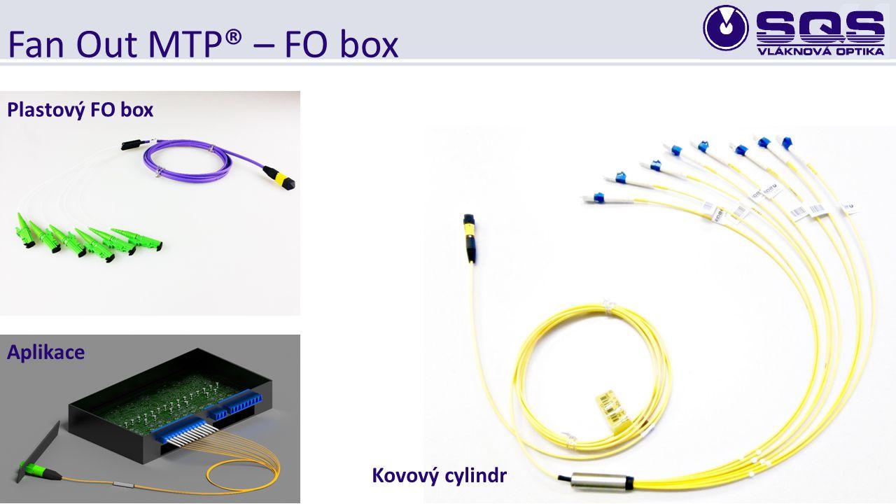 Fan Out MTP® – FO box Plastový FO box Aplikace Kovový cylindr