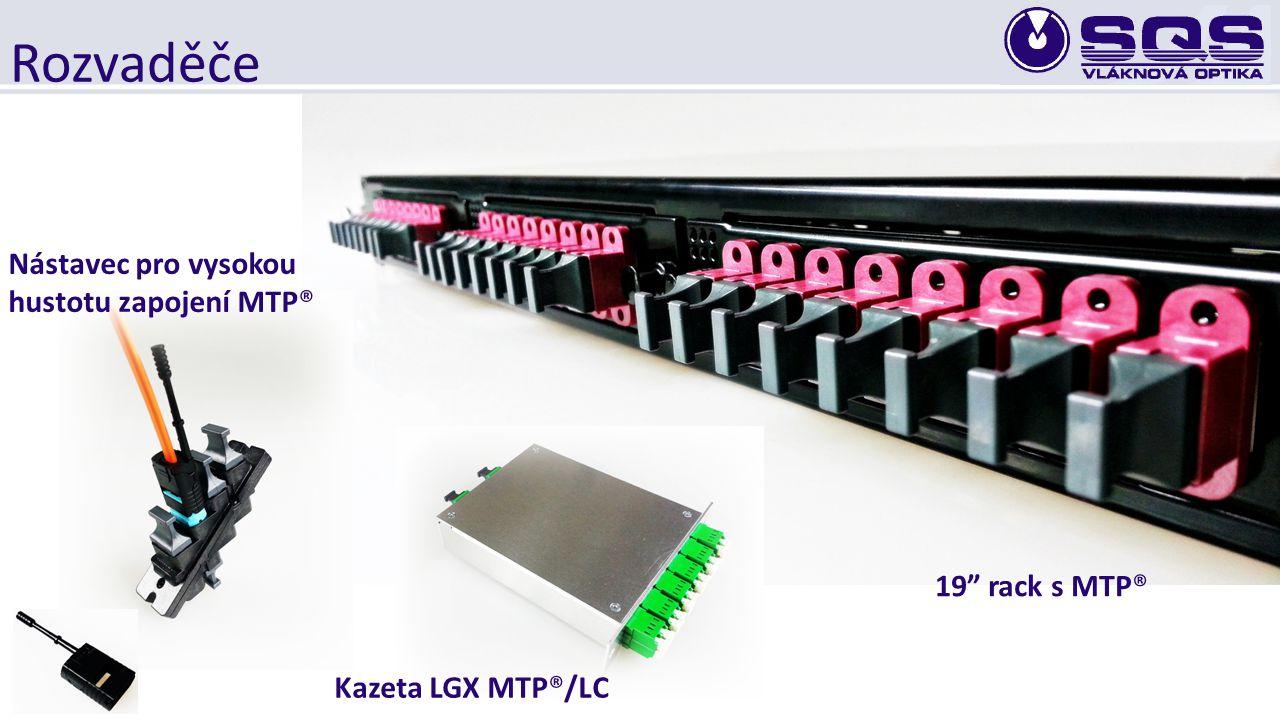 Rozvaděče Nástavec pro vysokou hustotu zapojení MTP® 19 rack s MTP®