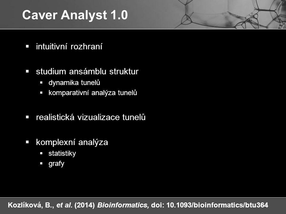 Caver Analyst 1.0 intuitivní rozhraní studium ansámblu struktur